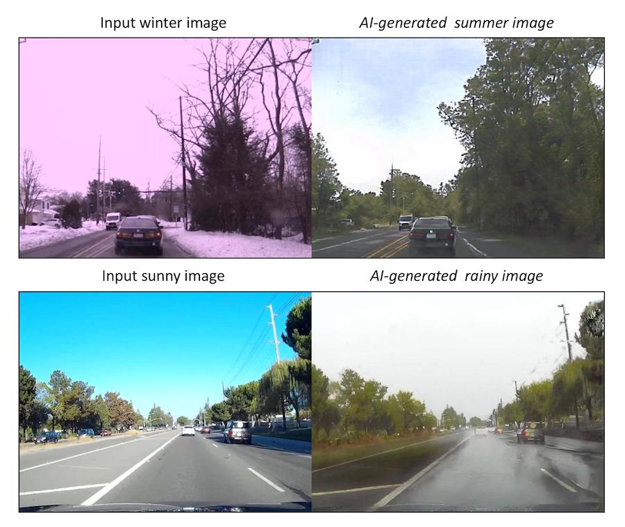 Scènes de rue modifiées par IA